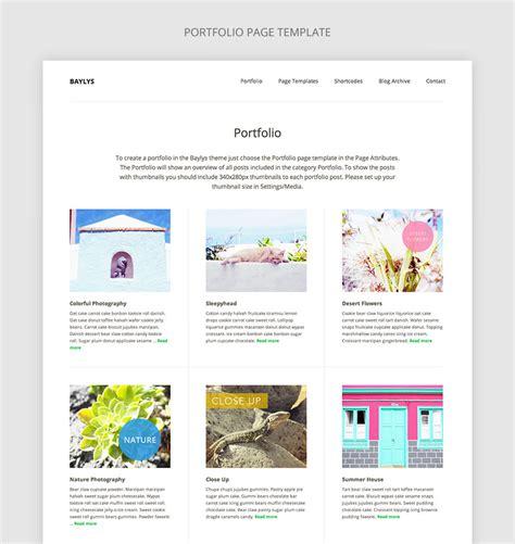 baylys portfolio page template elmastudio