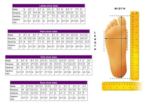 pin shoe sizes on