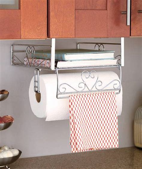 kitchen under cabinet storage new under cabinet shelf organizer storage paper towel chrome white or bronze ebay