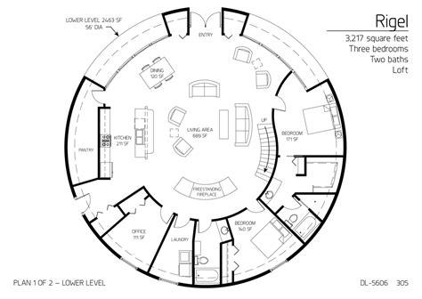 dome house floor plans floor plan dl 5606 monolithic dome institute
