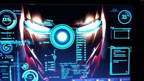 theme windows 7 jarvis iron man my jarvis from iron man mod for my windows 7 youtube