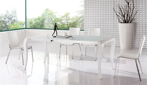 White Dining Set White Modern Extendable Dining Set Contemporary Dining