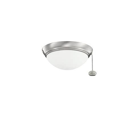 Low Profile Ceiling Light Fixtures Kichler Lighting 380120bss Low Profile One Light Ceiling Fan Kit Ceiling Fan Light Kit