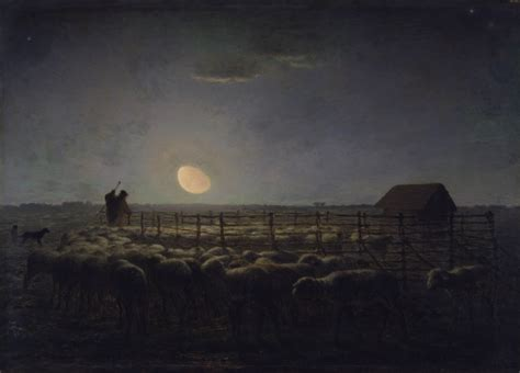 le berger oil near me file jean fran 231 ois millet the sheepfold moonlight