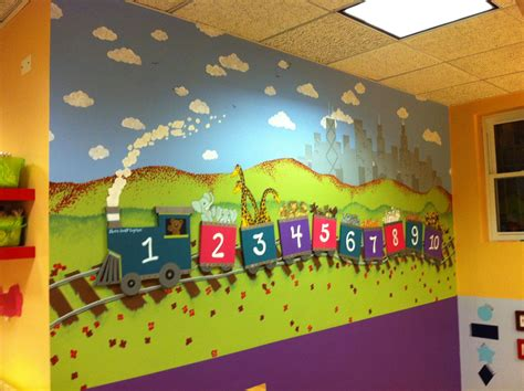 this is the quot numbers quot mural at an early education