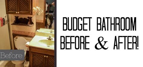 Before And After Bathroom Makeovers On A Budget by Budget Bathroom Makeover Before After Our House