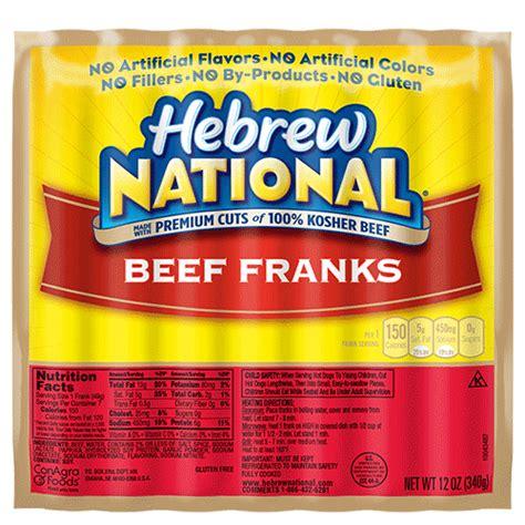 hebrew national ingredients beef franks hebrew national