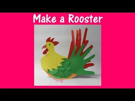How To Make Arts And Crafts Out Of Paper - arts and crafts how to make a rooster