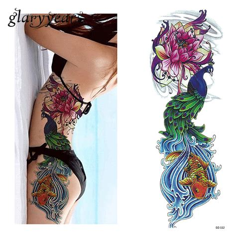 one piece fake tattoo online buy wholesale peacock tattoo from china peacock