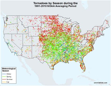 monthly tornado averages by state and region u s tornadoes