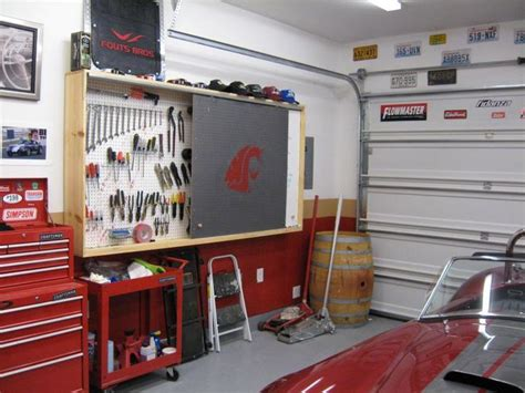 Garage Storage Ideas Garage Journal Pegboard Storage For Garages Pegboard Cover Up The