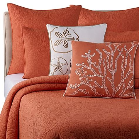 coral colored coverlet buy solid seashell coral king quilt from bed bath beyond