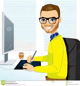 Garden Dental Arts - hipster graphic designer man working royalty free stock image image 38642016