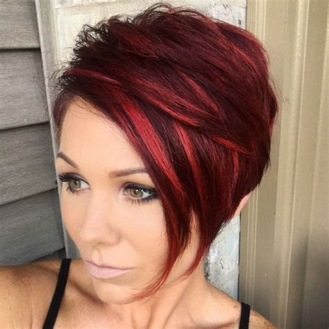 cross between a bob and pixie haircut redpixie redhair pixie hairstyles inspiration