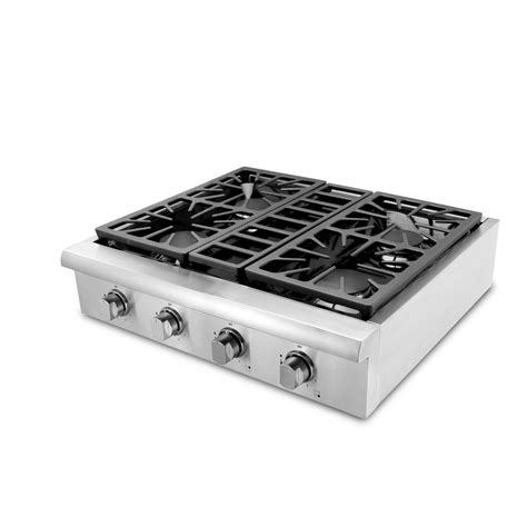 stainless steel cooktops thor kitchen 30 in gas cooktop in stainless steel with 4