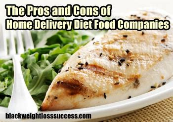home delivery diet plans home delivery diet food companies pros and cons black