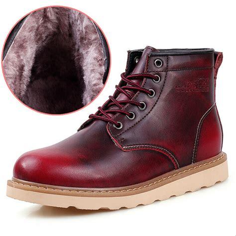 Sepatu Bot Kerja 2015 Baru Pria Kulit Asli Sepatu Mode Salju Retro Vintage