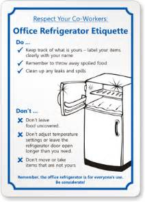 kitchen signs for work respect your co workers office refrigerator etiquette