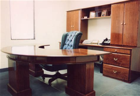 circular cherry executive office desk