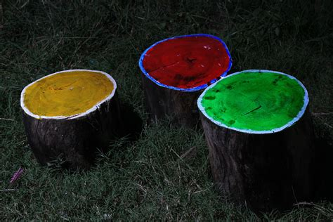 glow in the painted logs how to create glow in the log cfire stools 9 steps