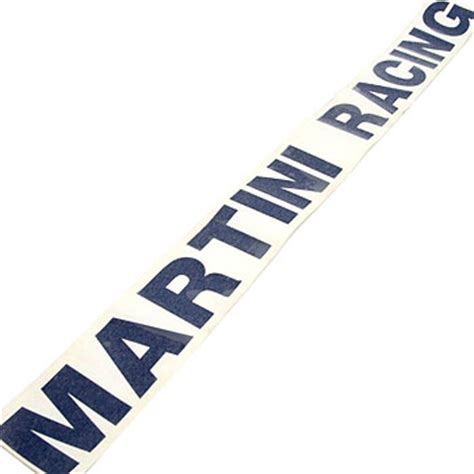 Martini Racing Aufkleber Set by Martini Racing Logo Sticker Die Cut Large Italian Auto