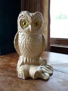 vintage large haeger pottery ceramic owl