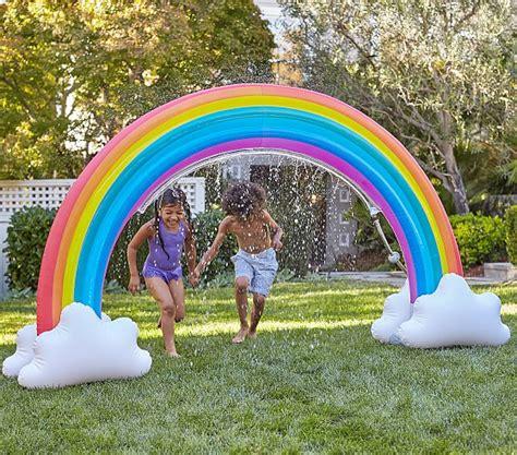 Pottery Barn Kids Shower Curtain Rainbow Inflatable Sprinkler Pottery Barn Kids