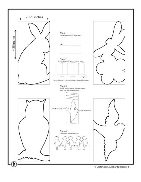 How To Make Paper Doll Chain - 194 best diy crafts free pattern template images on