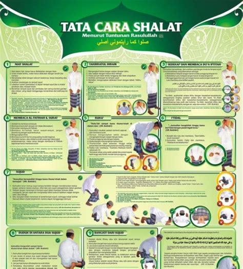 Poster Tuntunan Sholat poster vcd islam poster tata cara sholat