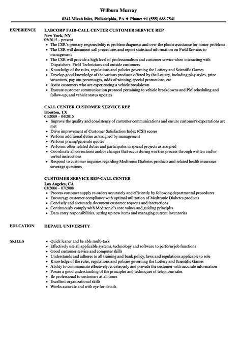 resume sample customer service positions