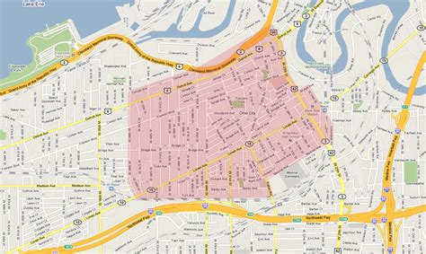 happy cleveland 100 map of cleveland ohio lakewood recreation department 2013 notable weather