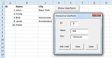 excel userform layout excel vba interactive userform easy excel macros