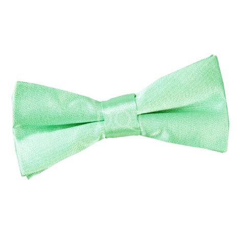 boy s plain mint green satin bow tie