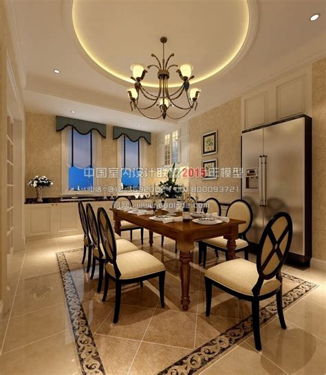 bedroom restaurant european american interior design living r 3d model