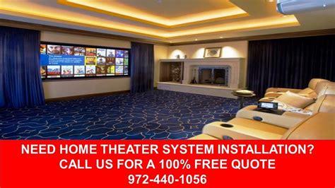 home theater systems installation dallas tx