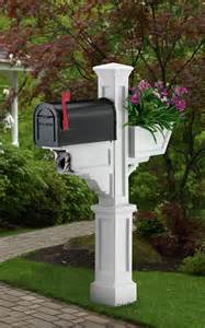 mayne signature plus mailbox post with newspaper holder