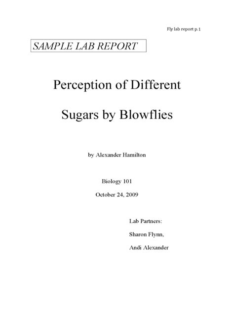 Biology Lab Report Template College Lab Report Exle 3 Free Templates In Pdf Word Excel
