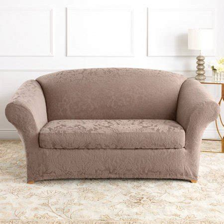 Damask Sofa Slipcover by Sure Fit Stretch Jacquard Damask 2 Sofa Slipcover