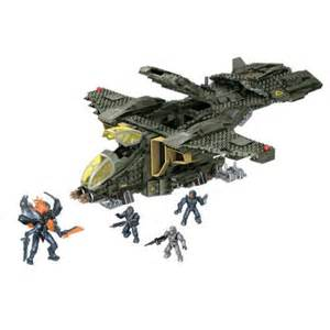 Most Popular Things For Kids by Mega Bloks Halo Unsc Pelican Gunship Play Set Walmart Com