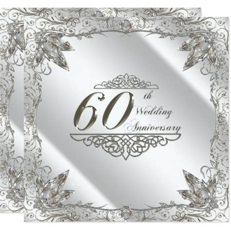 60th anniversary invitations templates 60th wedding anniversary invitation card zazzle