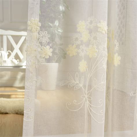 Sheer Fabric For Curtains Designs ᑎ Embroidery Tulle Curtains For Living Room Room White Sheer Fabric Drapes Country Country