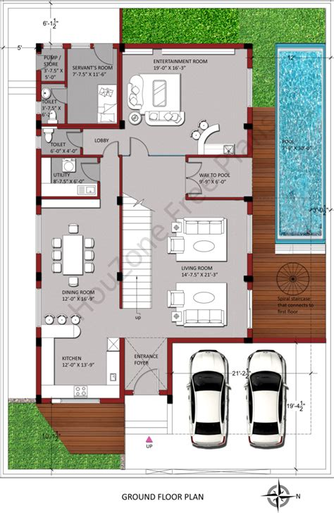 east facing duplex house floor plans east facing house plan houzone