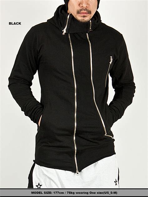 Jaket Hi Neck Hoodie Ja Ft 33 tops sold out unbeatable multi diagonal zipper accent unbalance high neck hoodie 33 for