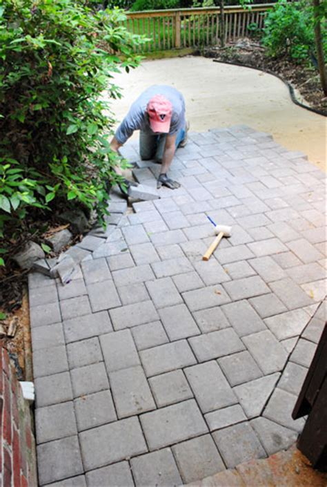 How To Lay A Paver Patio Gravel Sand And Stones Young Laying Pavers For Patio