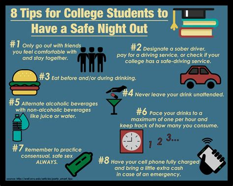 8 Tips For College Students by 8 Tips For College Students To A Safe Out