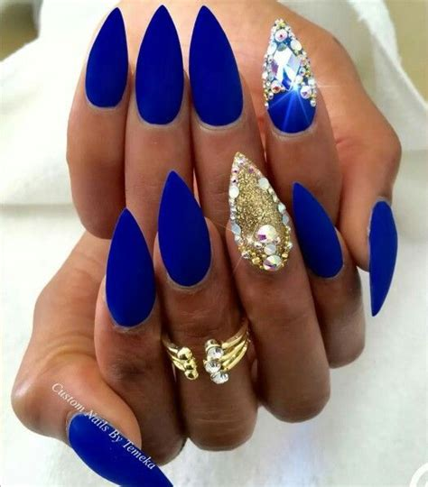 Royal Nails by Stiletto Nails Royal Blue Www Imgkid The Image Kid