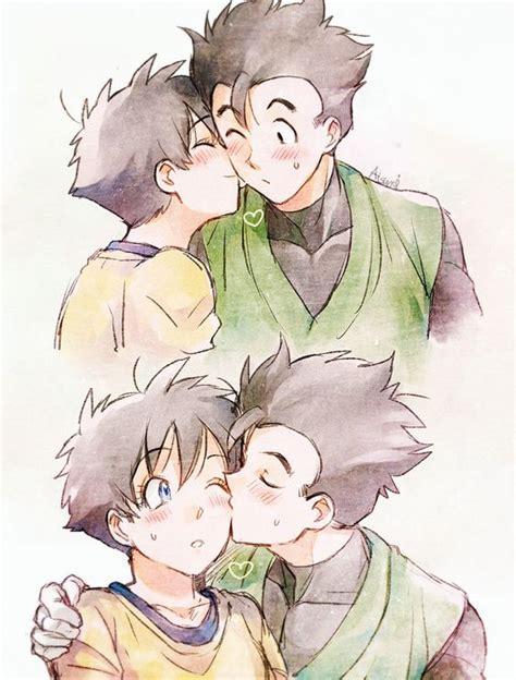imagenes de goku besando a bulma videl y gohan besandose dragon ball imagenes pinterest