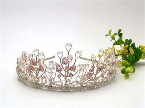 Handmade Wedding Tiaras - silver tale wedding tiara with sparkly swarovski