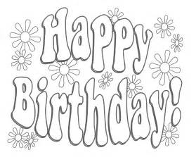 happy birthday coloring pages for only coloring pages