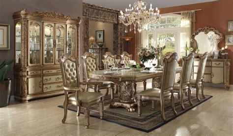 von furniture versailles large formal dining room set in von furniture vendome formal dining room set in gold